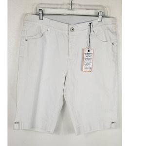 Jag White Bermuda Shorts Sz 14